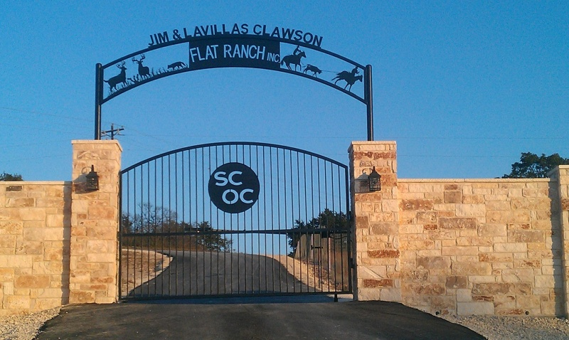 Custom Metal Ranch Entrance Signs In Texas Patterson